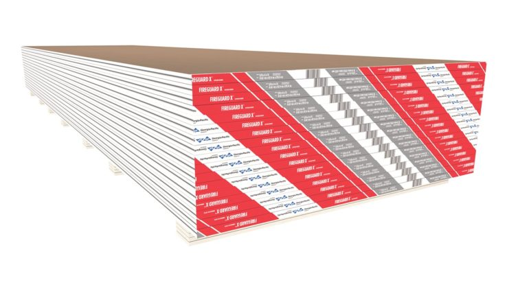 ToughRock FireGuard X Fire-Rated Type X Gypsum Board