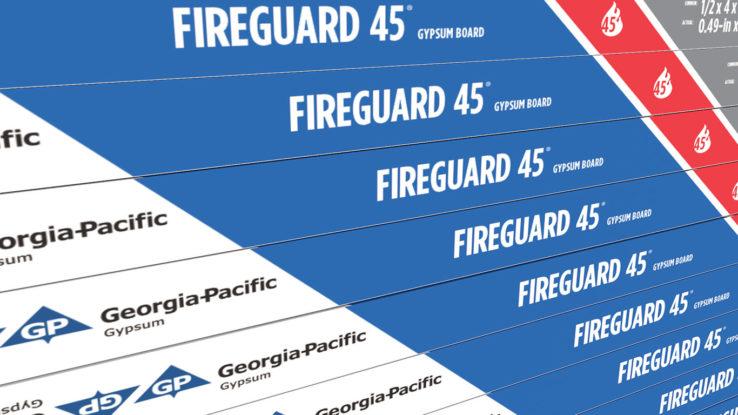 ToughRock Fireguard 45 Fire-Rated Gypsum Wallboard