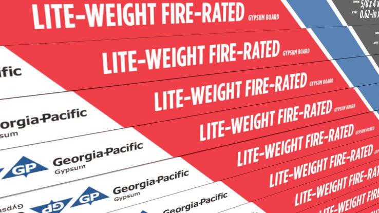 ToughRock Lightweight Fire-Rated Drywall Wallboard, Gypsum Board