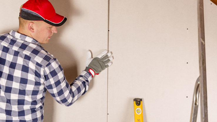 toughrock drywall wallboard panels
